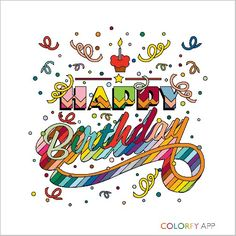 Happy, @Burgelei03 ! #colorfy #getinspired #colorfyapp #colorfy #colorfyapp #getinspired #message #love #you #lover #thank #you #happy #birthday #card #colors #beauty