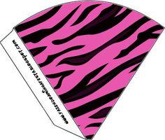 Imprimibles cebra en rosa 3.