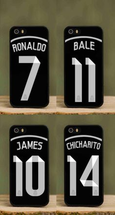 Real Madrid Black Kit 2014 2015 phone case for apple iphone 4 4s 5 5s 5c Ronaldo Chicharito Bale James cover