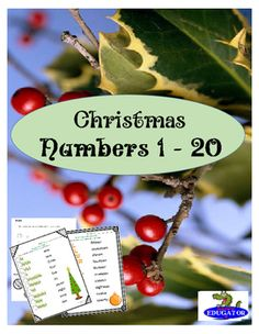 Christmas Counting math and literacy sheets. Numbers 1 - 20. Students have to count Christmas trees and Christmas ornaments. Match them to the number word, then write the number in the box provided. They can also trace the number words and write the matching numbers.Christmas ornament counting cards included or use mini candy canes or Christmas tree shaped candy and have your kids count them out as they complete the sheets.