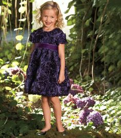 purple-wedding-flower-girl