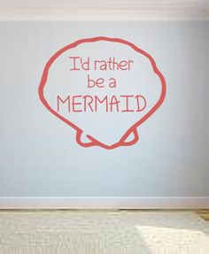 Mermaid  Vinyl Lettering Wall Decal by OZAVinylGraphics on Etsy