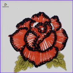 brazilian embroidery for beginners Diy Embroidery Patterns, Hand Embroidery Videos, Embroidery Flowers Pattern, Creative Embroidery, Embroidery Kits, Brazilian Embroidery Stitches, Embroidery Stitches Tutorial, Embroidery Needles, Diy Bordados