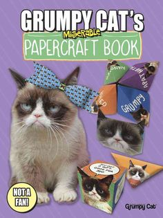 Have some papercraft fun with Grumpy! Grumpy Cat hates just about everything, including papercrafts. Nevertheless, this book displays the furrowed-browed feline on several cut-out crafts that include