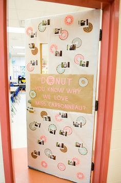 Teacher Appreciation Donut Door Decor idea