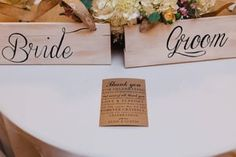 Hand painted Bride & Groom Chair signs  Photo taken by Buck Deitz Photography http://www.buckdeitzphotography.com/