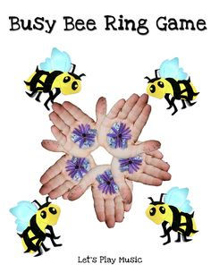 Busy Bee Ring Game for the summer season! Kids pretend to be bees and flowers - so sweet!