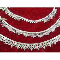 Zephyrr Fashion Turkish Style Beaded Pendant Long Necklace for Women Boho Gypsy Statement Jewelry – Fine Jewelry & Collectibles Payal Designs Silver, Silver Anklets Designs, Silver Payal, Anklet Designs, Ankle Jewelry, Cuff Jewelry, Fine Jewelry, Silver Jewelry, Macrame Jewelry
