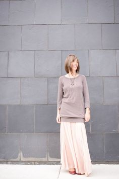 Fall Layers: Put a Mini Dress Over a Skirt