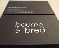 20 More Black Business Cards with Foil Stamping  witte folie gedrukt op zwart