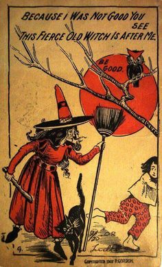 Antique Halloween Card (1933)