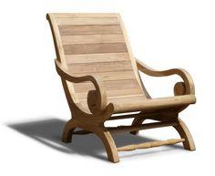 Capri Planters Lazy Chair, Reclaimed Teak, All Sun Loungers