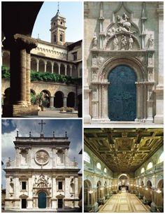 Basilica San Nicola, Tolentino, 4 vedute tra esterno ed interno, settembre 2014.