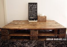 Handmade Recycled Timber Pallette Low Rise Coffee by UrbanGarage, $265.00