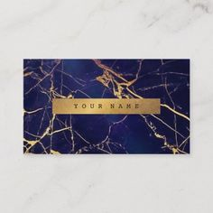 Navy Blue Grungy Gold Marble Vip Business Card - Stand out from your competition. Business Cards Layout, Beauty Business Cards, Business Holiday Cards, Simple Business Cards, Business Card Size, Business Logo, Art Deco Logo, Blue And Copper, Gold Marble