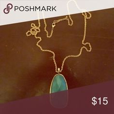 Blue long chain necklace Blue long chain necklace Charlotte Russe Jewelry Necklaces