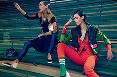 Elle Brazil April 2014   Dovile Virsilaite & Paolla Rahmeier by Fabio Bartelt [Editorial]