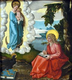 Books and Art: Saint John on Patmos (c.1511).Hans Baldung...