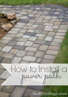DIY - How to Install a Paver Path #diy #gardenpath #dan330 http://livedan330.com/2015/03/05/diy-how-to-install-a-paver-path/