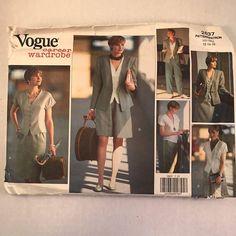 Vogue 2637 Womens Jacket Top Skirt Shorts Pants Sewing Pattern 1990's Size 12-16 #VoguePatterns
