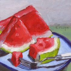Watermelon Still Life Painting