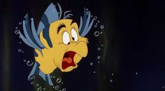 Things you didn't know about The Little Mermaid: When Flounder is talking about Scuttle, he physically transforms into the seagull for a few frames.