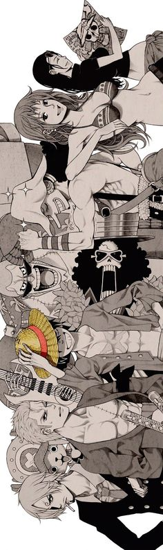One Piece straw hat crew luffy zolo zoro sanji usopp nami brook franky robin chopper Manga Anime, Manga Art, Anime Art, Anime One Piece, I Love Anime, Awesome Anime, Manga Comics, Geeks, Tony Chopper