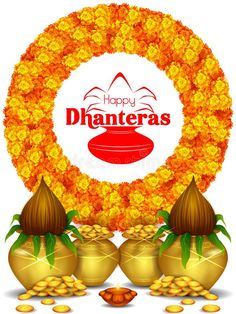Illustration about Vector illustration of Gold Kalash with decorated diya for Happy Dhanteras Diwali festival holiday celebration of India greeting background. Illustration of editable, event, diya - 129713132 Dhanteras Wishes Images, Happy Dhanteras Wishes, Diwali Greetings, Diwali Wishes, Diwali Party, Diwali Diya, Happy Diwali Status, Diwali Message, Navratri Wishes