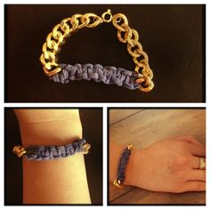 Chain suede bracelet diy