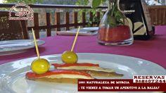 ¡ empezamos semana, ¿qué tal un buen aperitivo en plena naturaleza y muy cerquita de Murcia? ¿apetece? Reservas 968607244