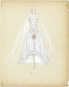 Lucile Ltd. wedding dress sketches Lucile was the professional name of Lady Duff Gordon one of the first British fashion designers to attain an international reputation. 1920s Wedding Gown, Roaring 20s Wedding, Bridal Gowns, Wedding Dresses, Flapper Wedding, Roaring Twenties, Wedding Dress Sketches, 20th Century Fashion, Art Deco Wedding