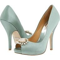 2013 Pantone Color | Greyed Jade - Slick heels - #shoes #greyedjade