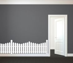 Picket Fence As A Bedroom Wall Decor Picket Fence Decor