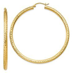 ICE CARATS Yellow Gold Round Hoop Earrings Ear Hoops Set Fine Jewelry Ideal Gifts For Women Gift Set From Heart Sincerely hope you do enjoy our photo. (This is an affiliate link)
