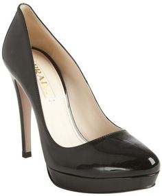 Prada Black Black Patent Leather Platform Pumps