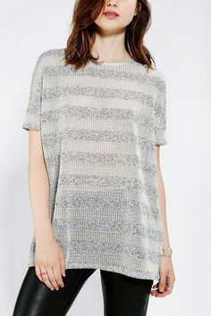 Sparkle & Fade Textured Stripe Top Online Only