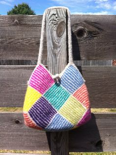 Ravelry: Garter Stripe Square Bag by Ishi-knit