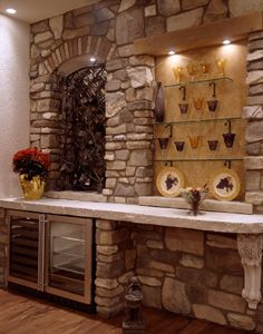 Butlers pantry to wine grotto on pinterest wrought iron for Wine grotto design