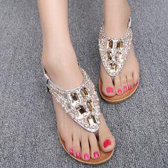 $24.98 (Buy here: https://alitems.com/g/1e8d114494ebda23ff8b16525dc3e8/?i=5&ulp=https%3A%2F%2Fwww.aliexpress.com%2Fitem%2FThe-new-summer-2015-fashion-diamond-sandals-Beaded-heel-clip-toe-wedge-sandals%2F32296812902.html ) The new summer 2015 fashion diamond sandals Beaded heel clip toe wedge sandals for just $24.98