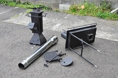 Portable version. Barbecue Grill, Grilling, Rocket Stove Design, Furnace Heater, Outdoor Oven, Toilet Design, Rocket Stoves, Fire Pit Backyard, Camping Stove