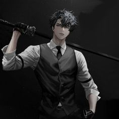 Dark Anime Guys, Cool Anime Guys, Hot Anime Boy, Handsome Anime Guys, Gothic Anime, Anime Fantasy, Anime Black Hair, Manga Boy, Boy Art