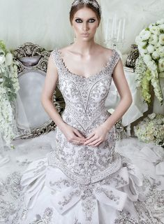 Dar Sara Wedding Dresses 2014 Collection with Glamorous Swarovski Crystals Part II