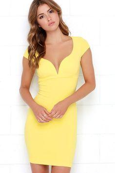 d8624ab7a Yellow bodycon dress australia Vestidos A La Rodilla