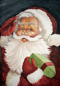 Old-Fashioned Santa Claus | Old fashioned vintage santa claus print from my by margiebarron, $45 ...
