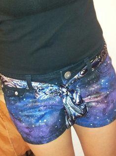 DIY Galaxy Shorts!