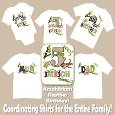 Family Matching Amphibians Reptiles Nature Ourdoor Explore Frogs Turtles Snakes Lizards Birthday Party T-shirt Shirts Mom Dad Kids Siblings