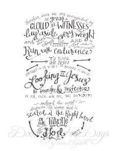 Run With Confidence Hebrews 12:12 by DoodlingForDays on Etsy