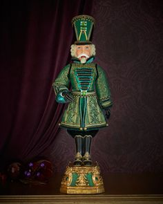 """Sargent Sage 32"""" Nutcracker by Katherine\'s Collection at Neiman Marcus."""