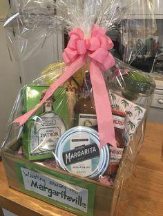 Margarita gift basket Raffle Gift Basket Ideas, Raffle Baskets, Basket Gift, Raffle Ideas, Raffle Prizes, Gift Ideas, Gift Baskets For Women, Wine Gift Baskets, Margarita Gift Baskets