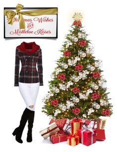 Mistletoe Kisses by todahjesus on Polyvore featuring polyvore fashion style Faith Connexion ASOS Martha Stewart women's clothing women's fashion women female woman misses juniors